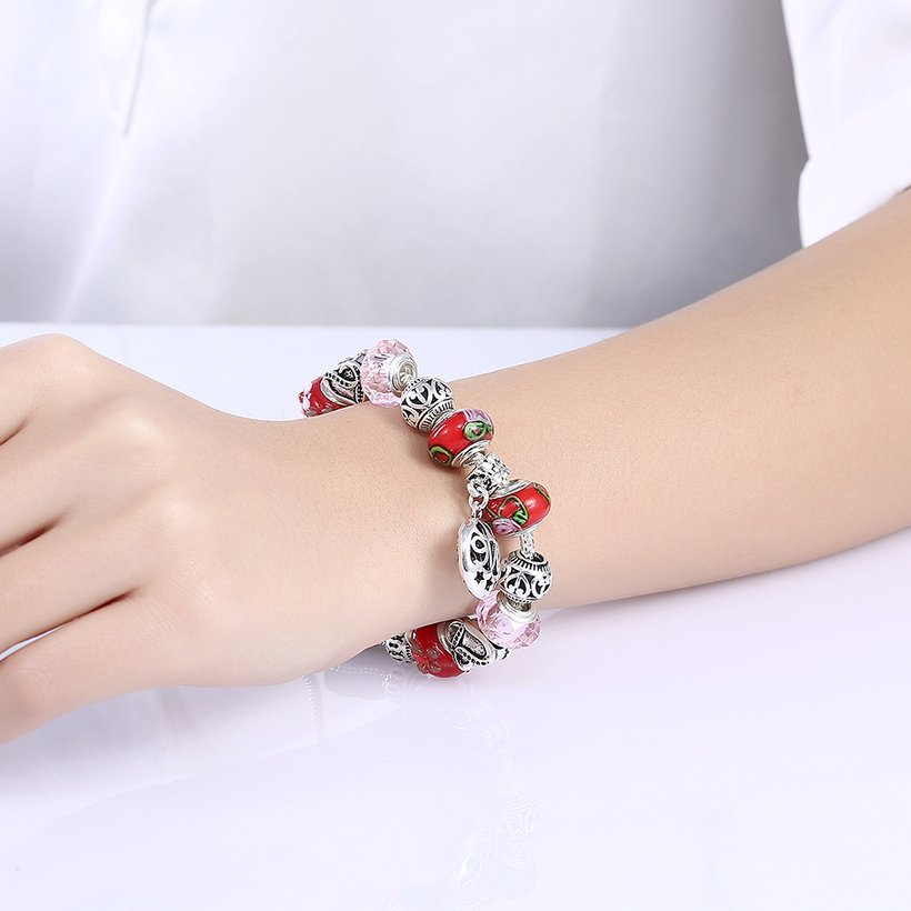 Wholesale Silver Love Beads Europe Style Bracelet TGBB006 3
