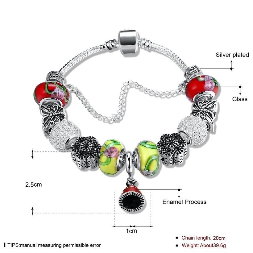 Wholesale Fashion Silver Small Bell Beads Bracelet TGBB013 0