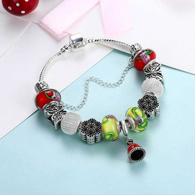 Wholesale Fashion Silver Small Bell Beads Bracelet TGBB013 3