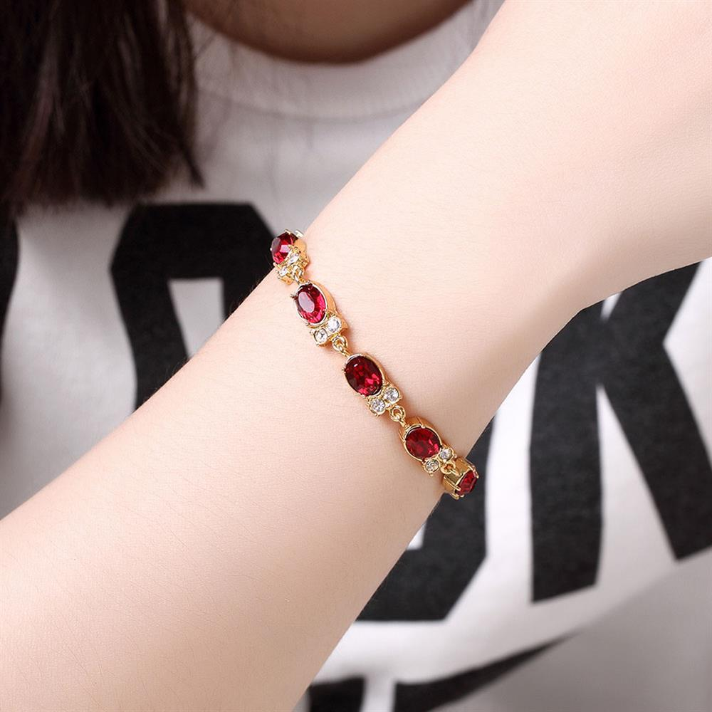 Wholesale Classic 24K Gold Round Resin Bracelet TGGPB029 0
