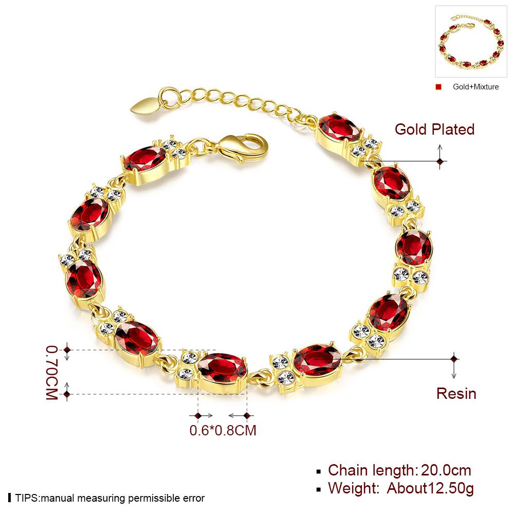 Wholesale Classic 24K Gold Round Resin Bracelet TGGPB029 1
