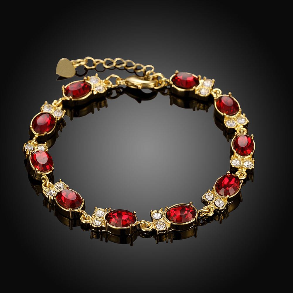 Wholesale Classic 24K Gold Round Resin Bracelet TGGPB029 2