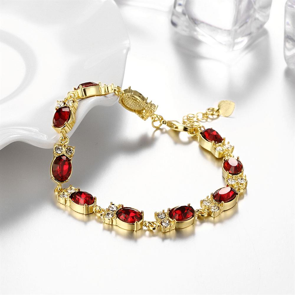 Wholesale Classic 24K Gold Round Resin Bracelet TGGPB029 3