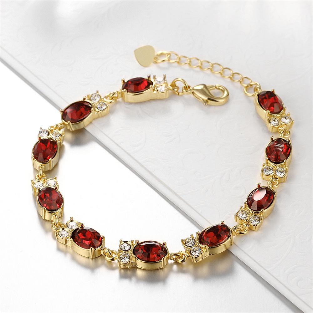Wholesale Classic 24K Gold Round Resin Bracelet TGGPB029 4