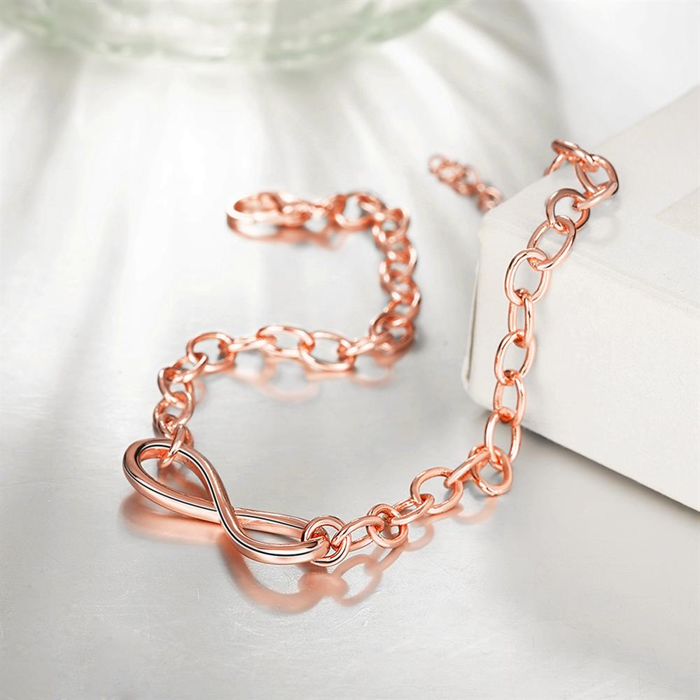Wholesale Classic Rose Gold Geometric Bracelet TGGPB142 2