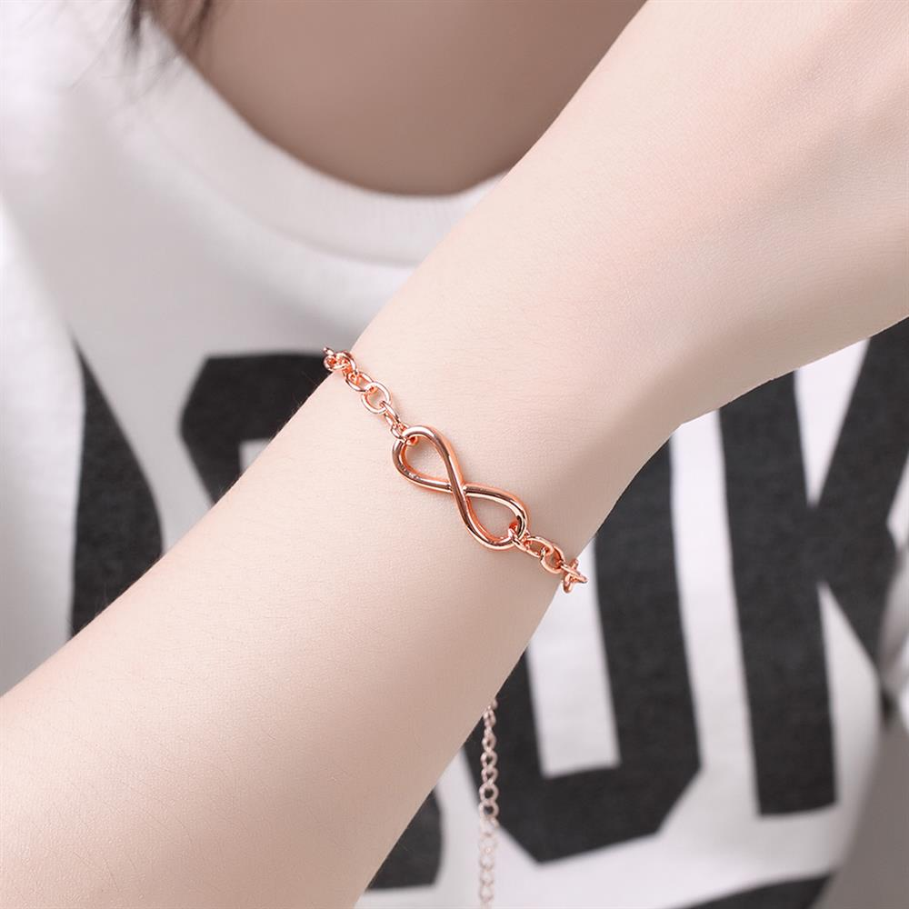 Wholesale Classic Rose Gold Geometric Bracelet TGGPB142 4