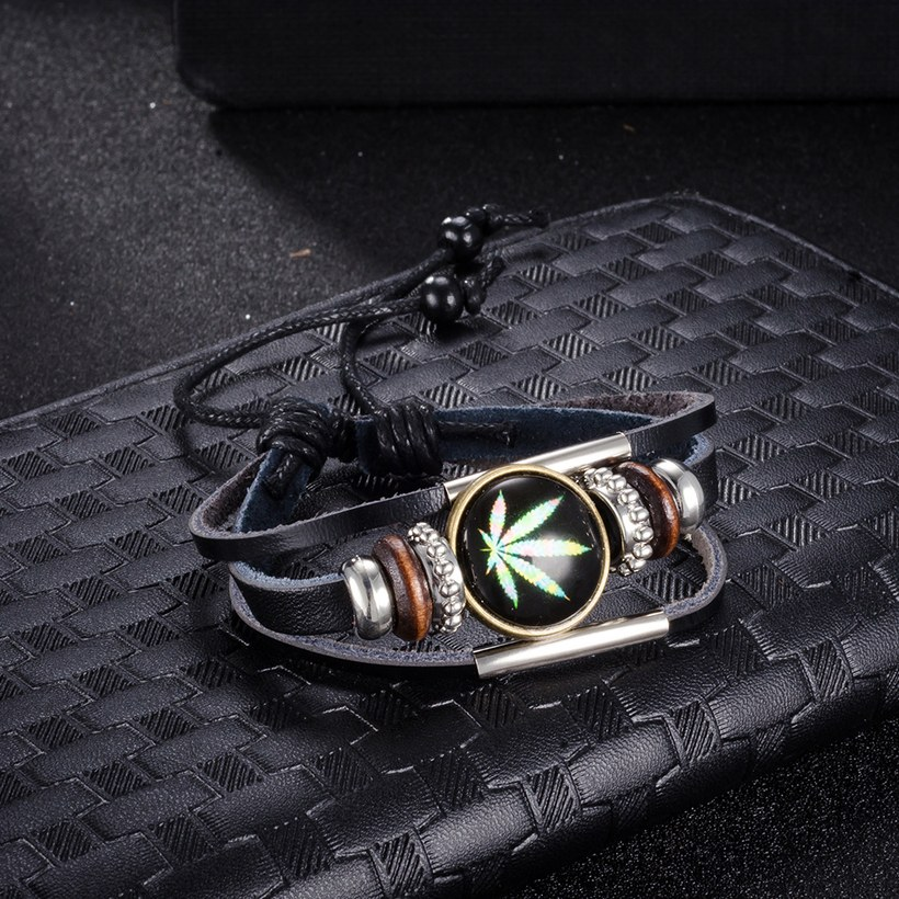 Wholesale Trendy Antique Silver Geometric Bracelet TGLEB175 0
