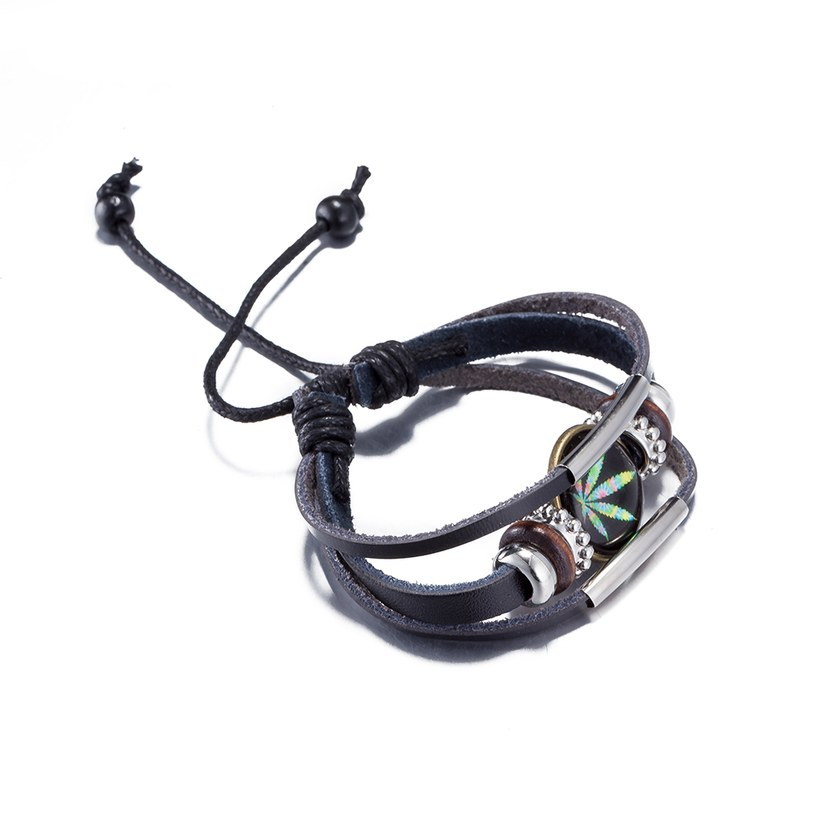 Wholesale Trendy Antique Silver Geometric Bracelet TGLEB175 1
