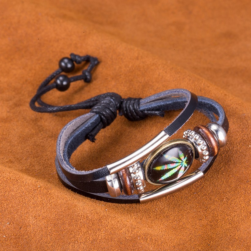 Wholesale Trendy Antique Silver Geometric Bracelet TGLEB175 5