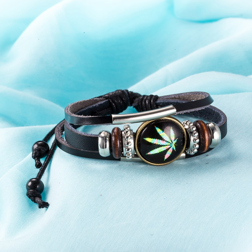 Wholesale Trendy Antique Silver Geometric Bracelet TGLEB175 6