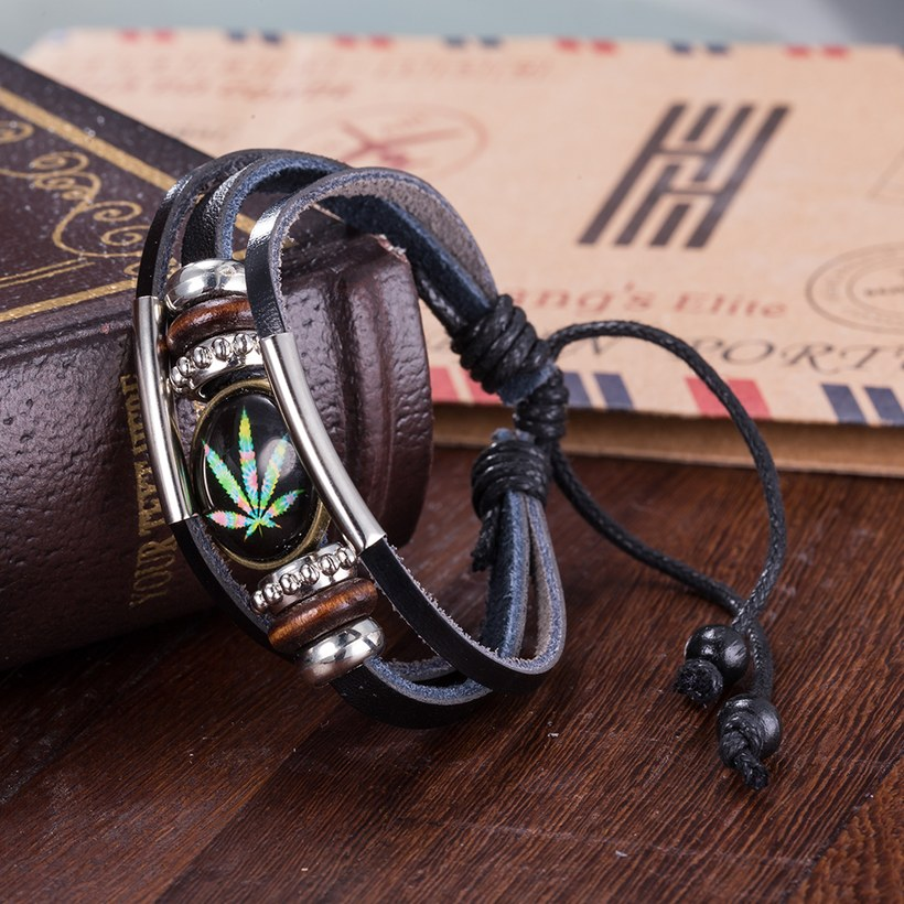 Wholesale Trendy Antique Silver Geometric Bracelet TGLEB175 8