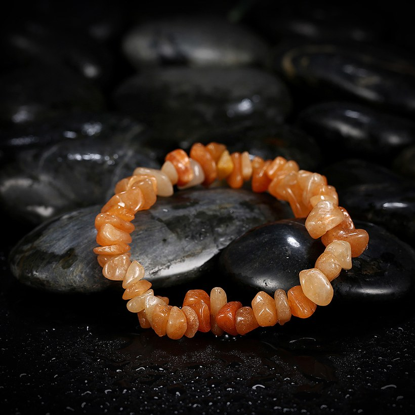 Wholesale Vintage Geometric Yellow Crystal Bracelet TGNSB017 3
