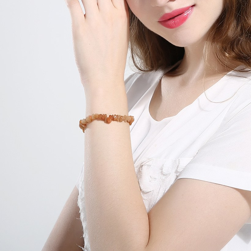 Wholesale Vintage Geometric Yellow Crystal Bracelet TGNSB017 4