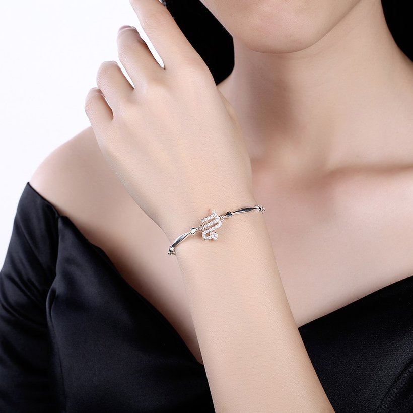 Wholesale Scorpio Constellations Real 925 Sterling Silver CZ Bracelet TGSLB046 0