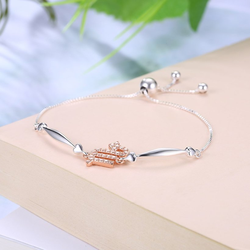 Wholesale Scorpio Constellations Real 925 Sterling Silver CZ Bracelet TGSLB046 1