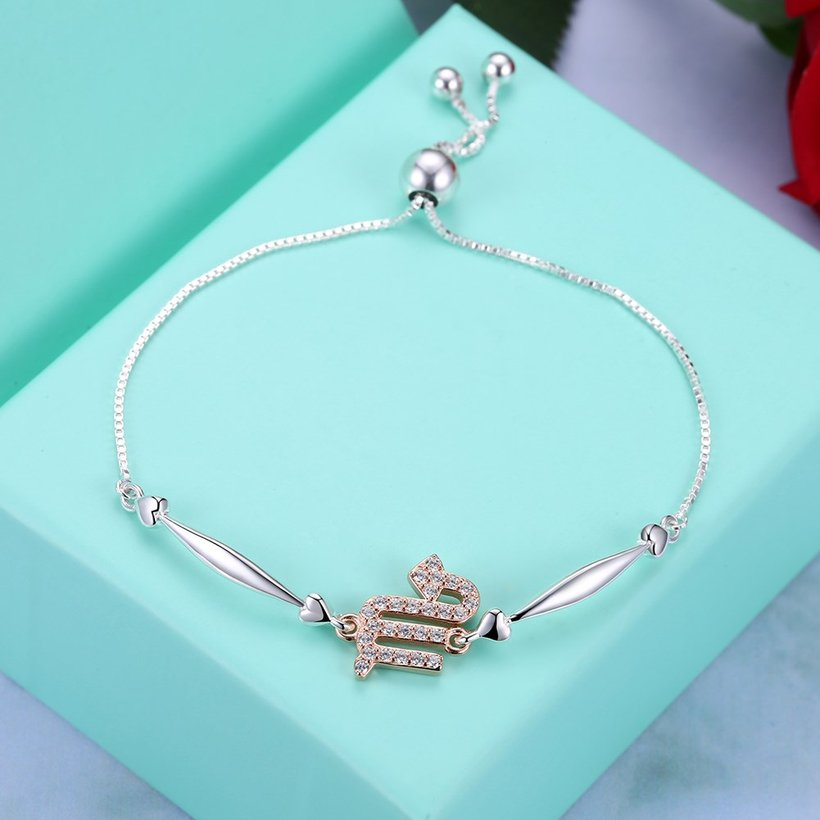 Wholesale Scorpio Constellations Real 925 Sterling Silver CZ Bracelet TGSLB046 2