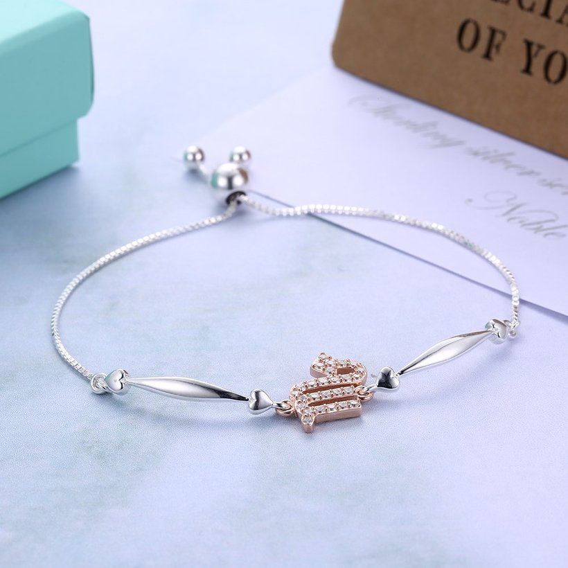 Wholesale Scorpio Constellations Real 925 Sterling Silver CZ Bracelet TGSLB046 3
