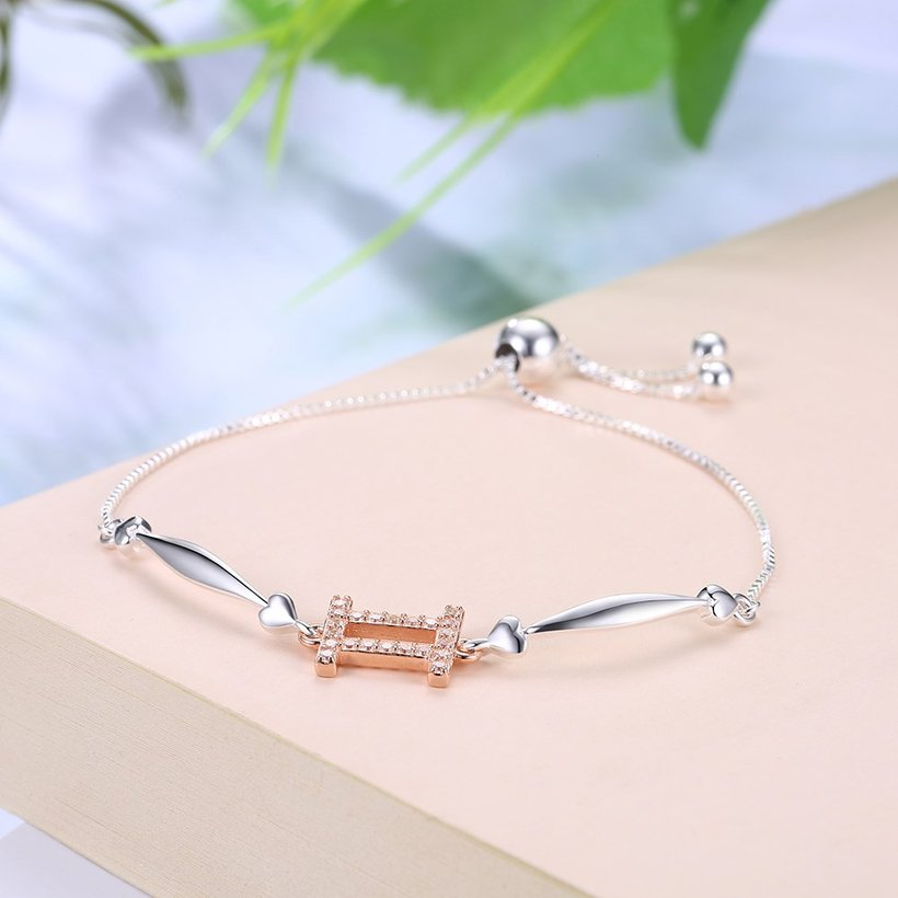 Wholesale Gemini Constellations Real 925 Sterling Silver CZ Bracelet TGSLB049 1
