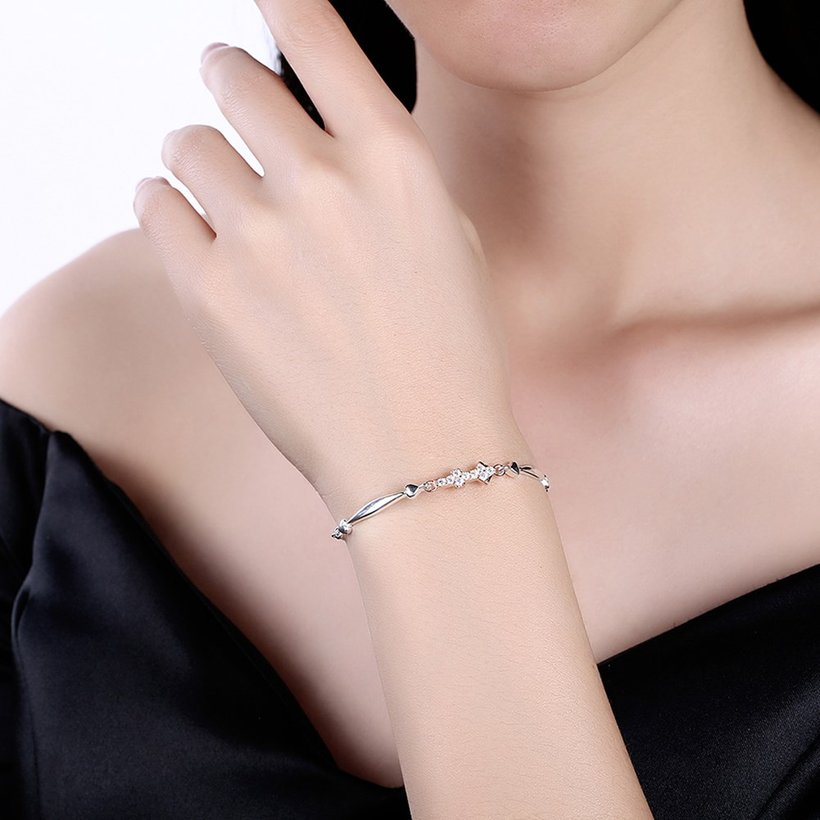 Wholesale Sagittarius Constellation Real 925 Sterling Silver CZ Bracelet TGSLB053 0