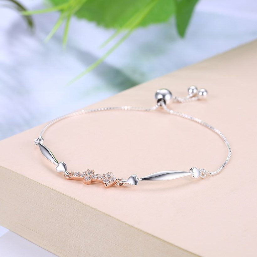 Wholesale Sagittarius Constellation Real 925 Sterling Silver CZ Bracelet TGSLB053 1