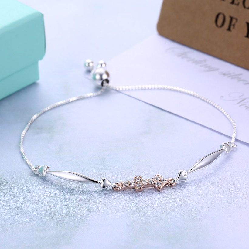 Wholesale Sagittarius Constellation Real 925 Sterling Silver CZ Bracelet TGSLB053 3