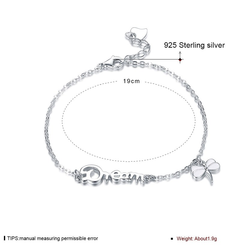 Wholesale Romantic Silver Insect Bracelet TGSLB026 0