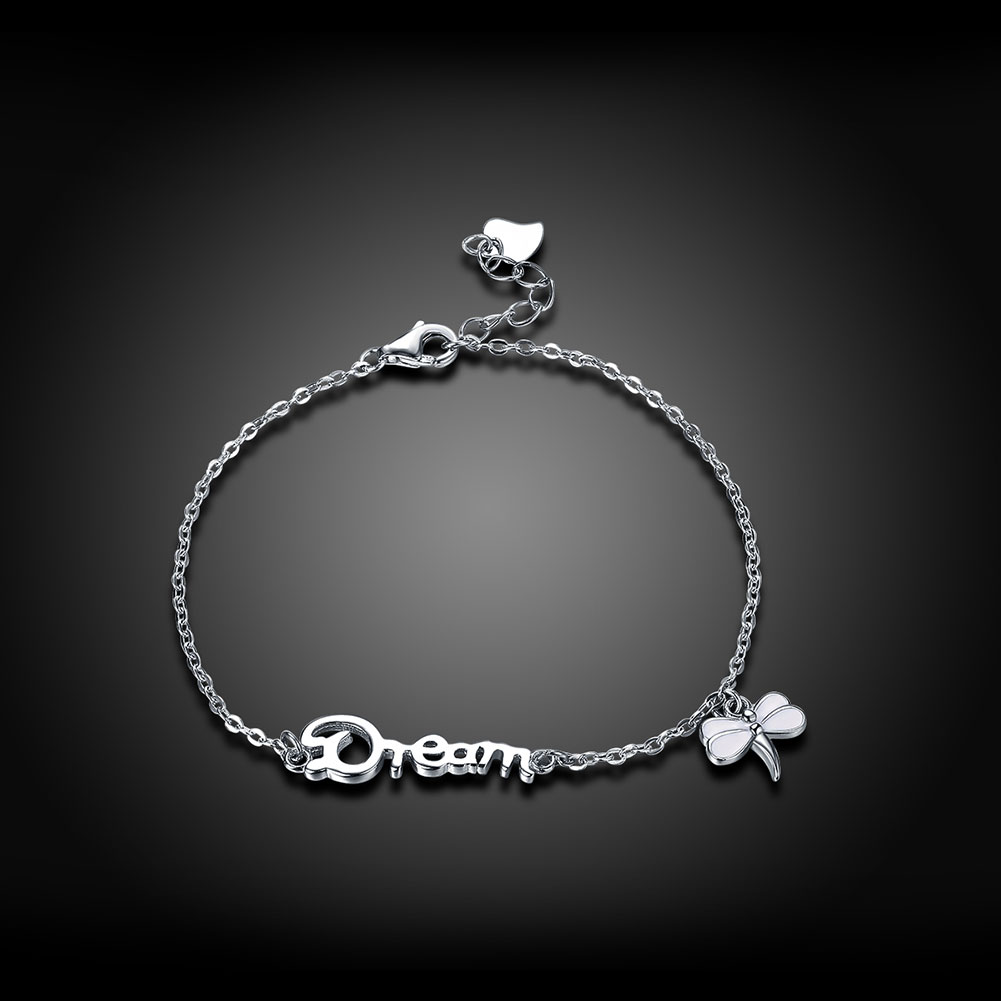 Wholesale Romantic Silver Insect Bracelet TGSLB026 1