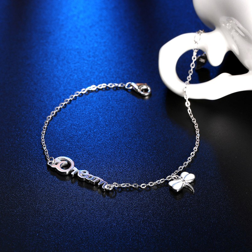 Wholesale Romantic Silver Insect Bracelet TGSLB026 2