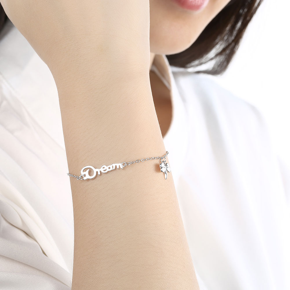 Wholesale Romantic Silver Insect Bracelet TGSLB026 4
