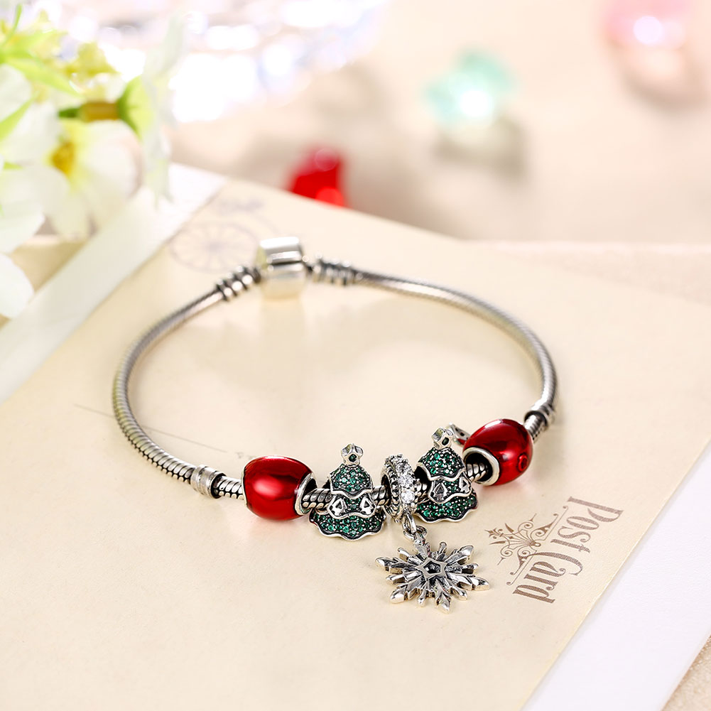 Wholesale Vintage Antique Silver Red CZ Bracelet TGSLB006 1