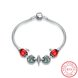 Wholesale Vintage Antique Silver Red CZ Bracelet TGSLB006 6