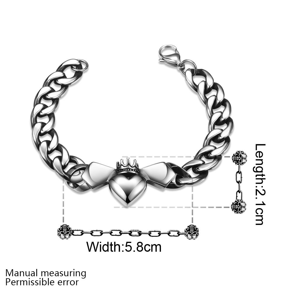 Wholesale Classic 316L stainless steel Heart Bracelet TGSMB024 0