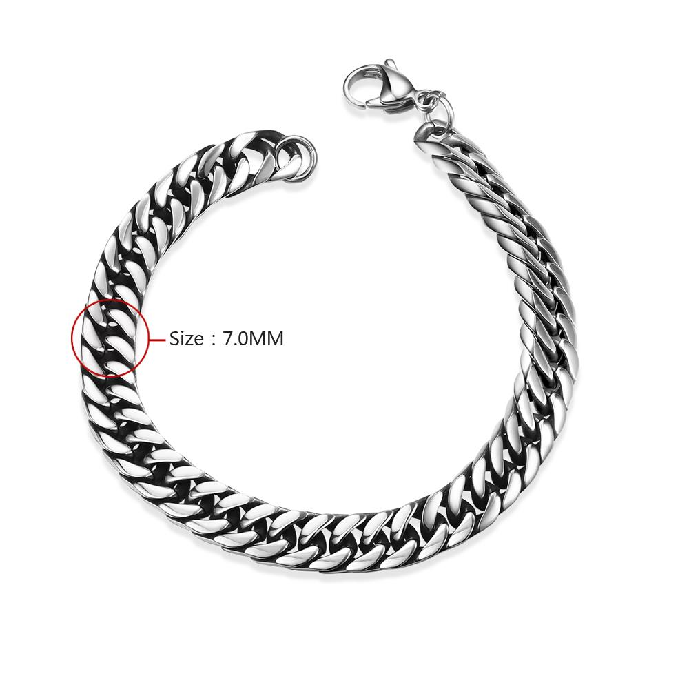 Wholesale Rock 316L stainless steel Geometric Bracelet TGSMB033 0