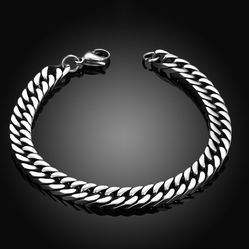 Wholesale Rock 316L stainless steel Geometric Bracelet TGSMB033 1