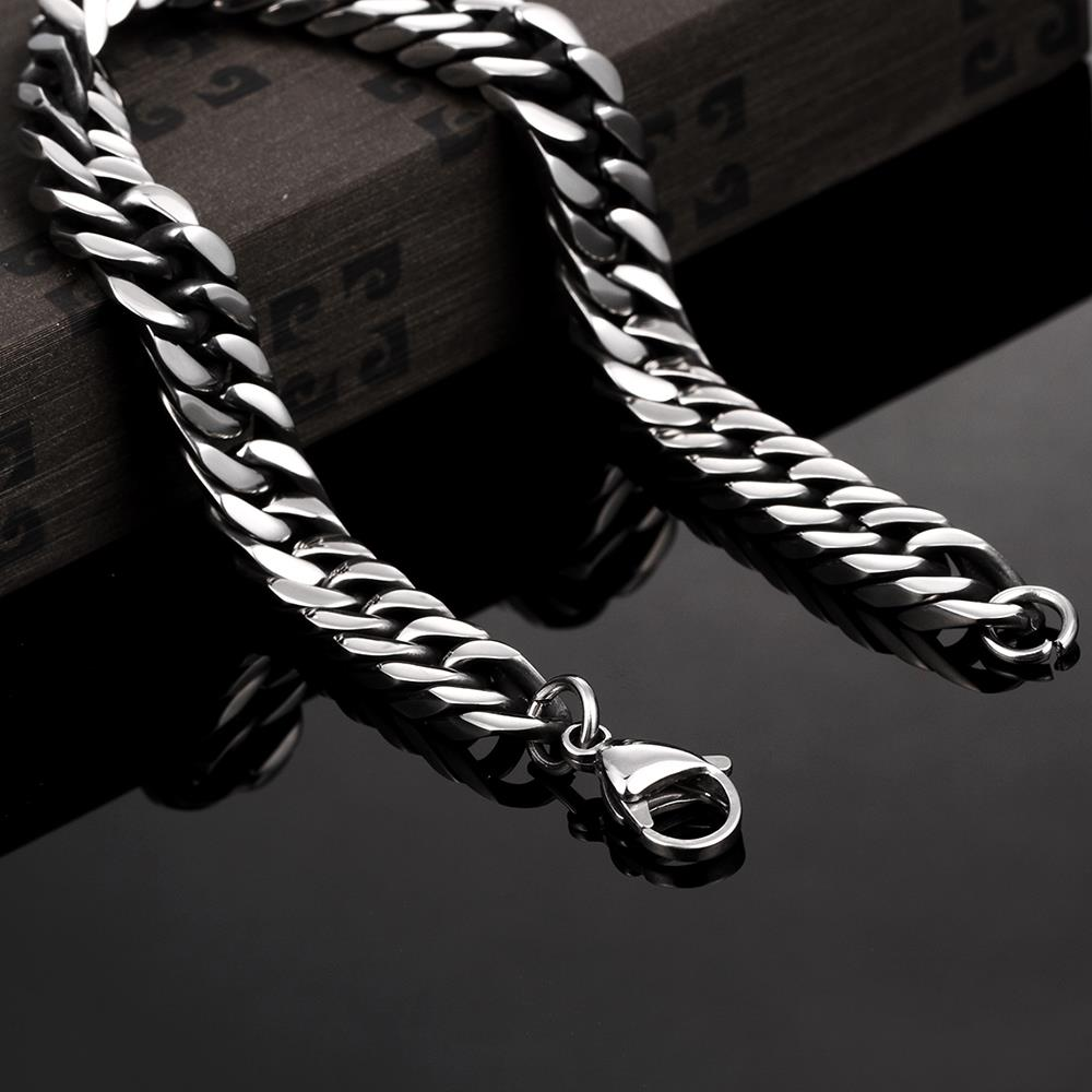 Wholesale Rock 316L stainless steel Geometric Bracelet TGSMB033 2