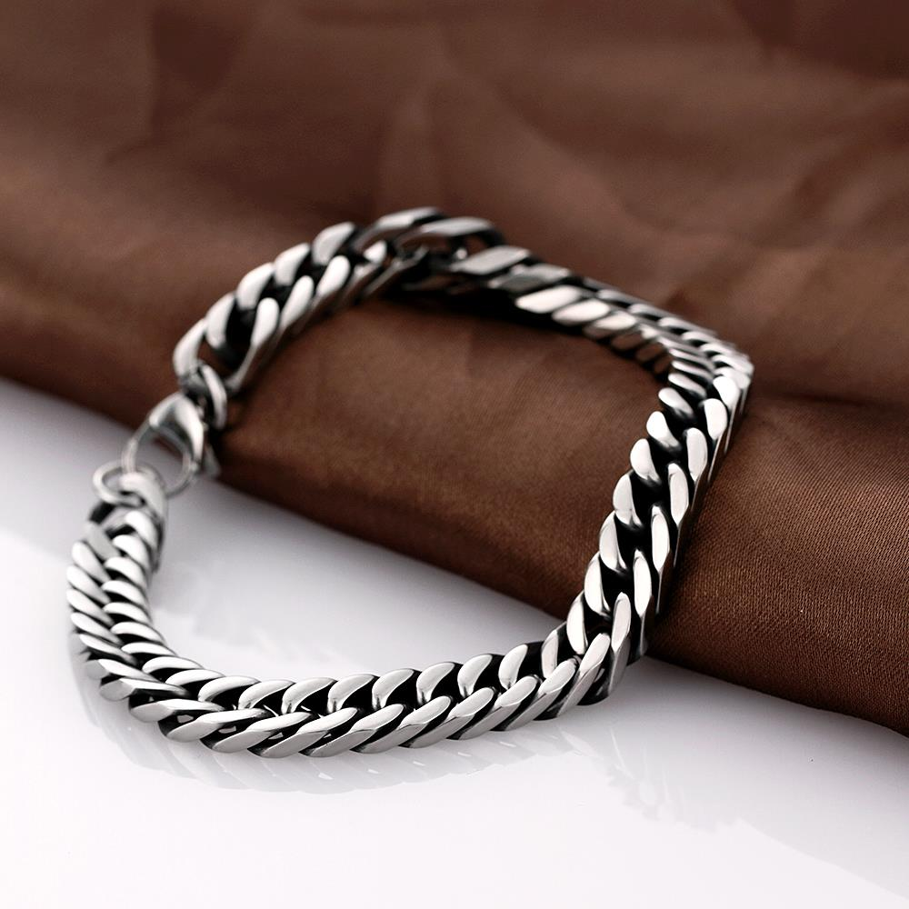 Wholesale Rock 316L stainless steel Geometric Bracelet TGSMB033 3