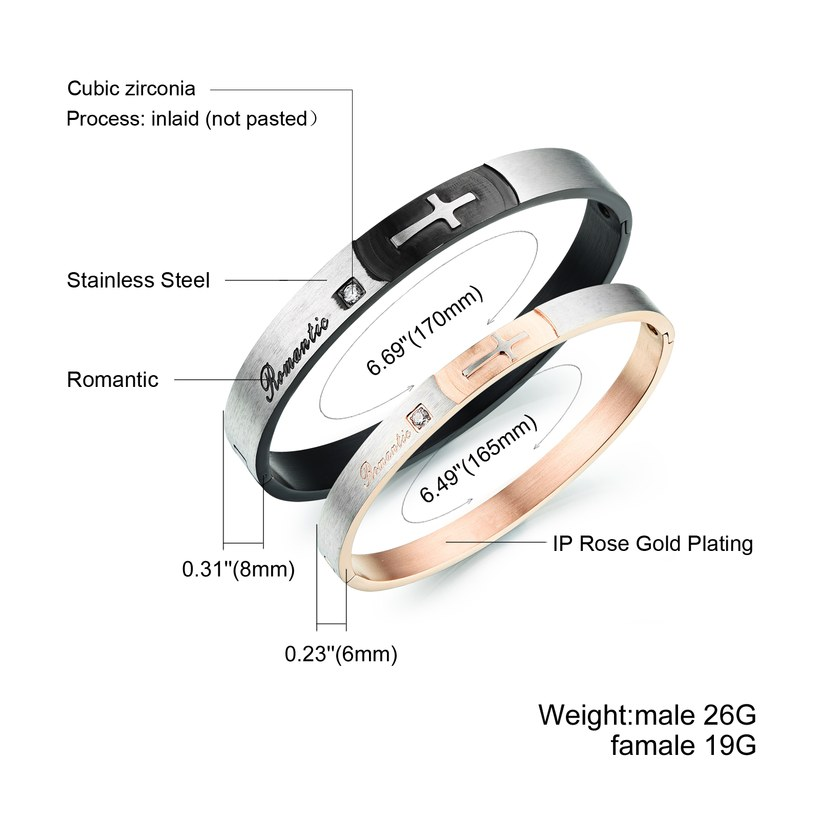 Wholesale New Fashion Stainless Steel Couples BraceletLovers TGSMB020 1