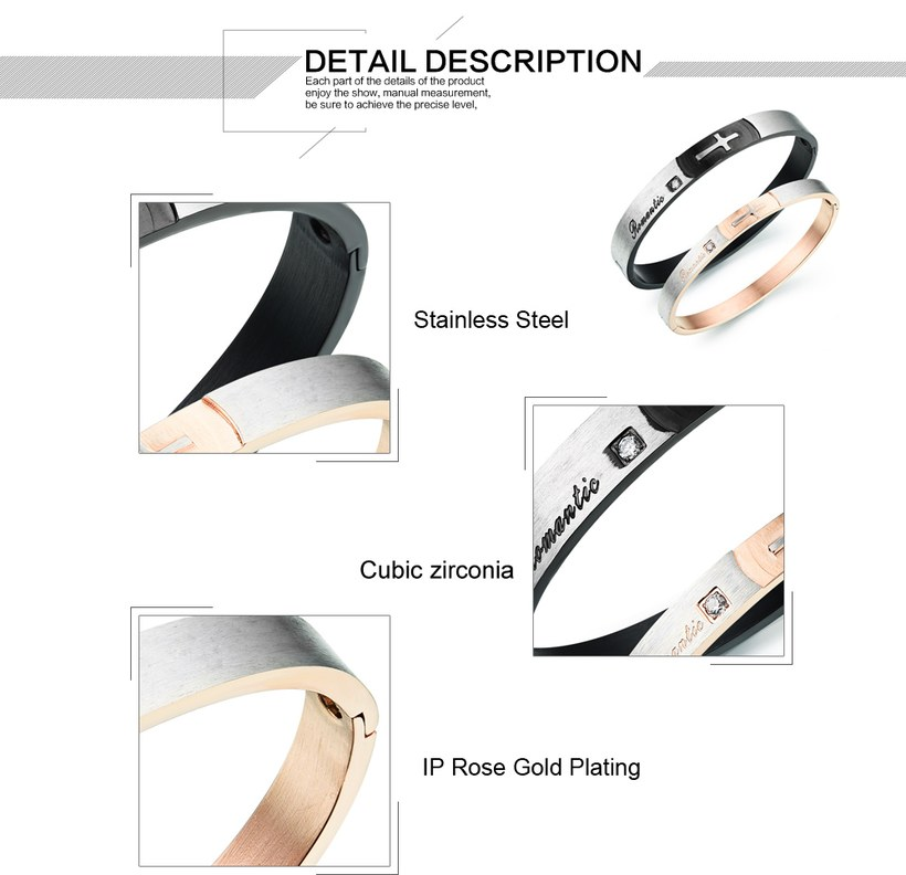 Wholesale New Fashion Stainless Steel Couples BraceletLovers TGSMB020 2