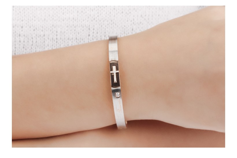 Wholesale New Fashion Stainless Steel Couples BraceletLovers TGSMB020 5