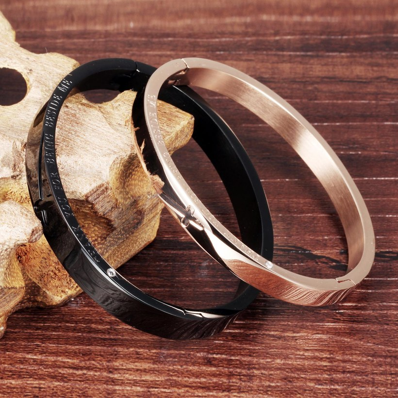 Wholesale New Fashion Stainless Steel Couples BraceletLovers TGSMB001 0