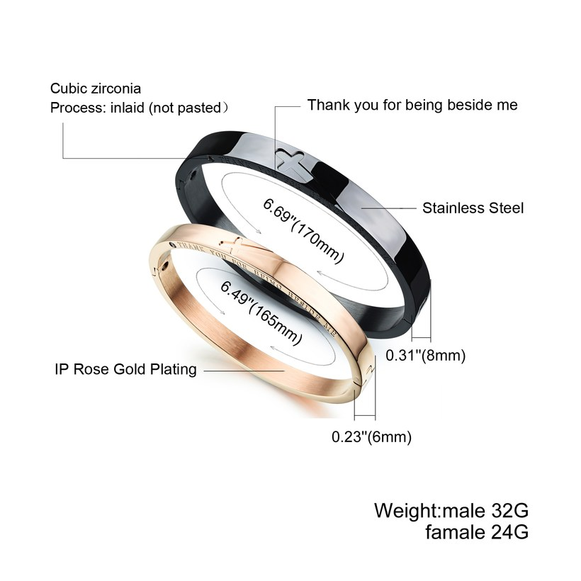 Wholesale New Fashion Stainless Steel Couples BraceletLovers TGSMB001 1