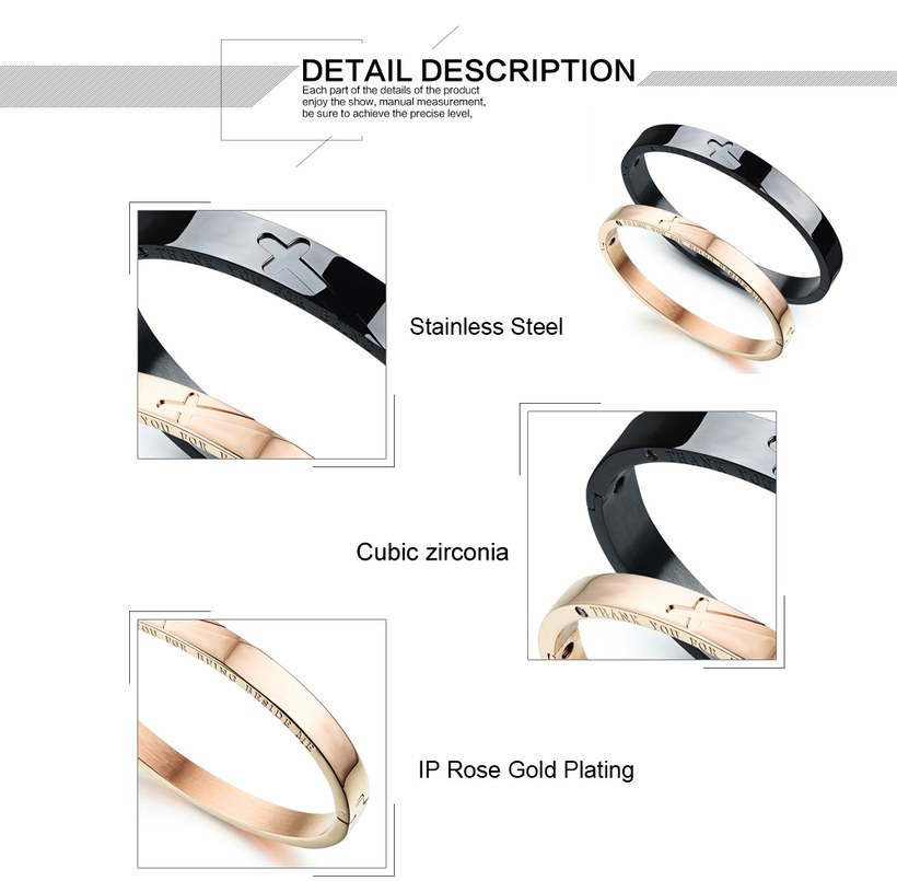 Wholesale New Fashion Stainless Steel Couples BraceletLovers TGSMB001 2