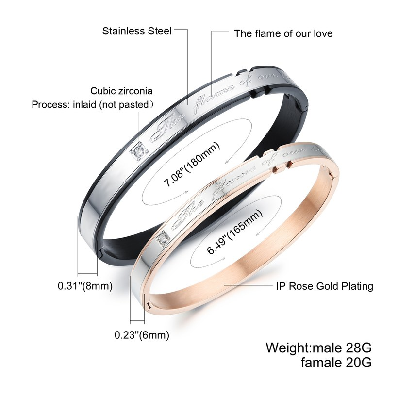 Wholesale 2018 New Fashion Stainless Steel Couples BraceletLovers TGSMB002 1