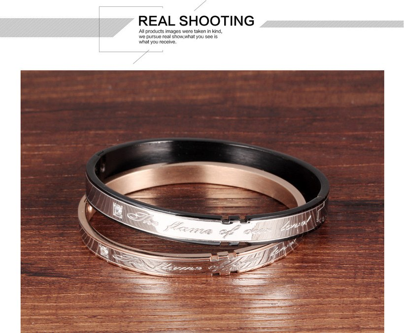 Wholesale 2018 New Fashion Stainless Steel Couples BraceletLovers TGSMB002 3