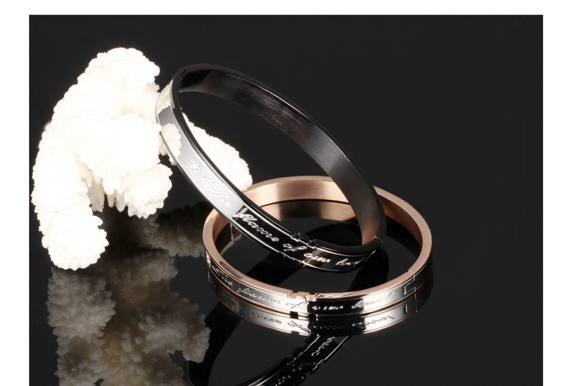 Wholesale 2018 New Fashion Stainless Steel Couples BraceletLovers TGSMB002 6