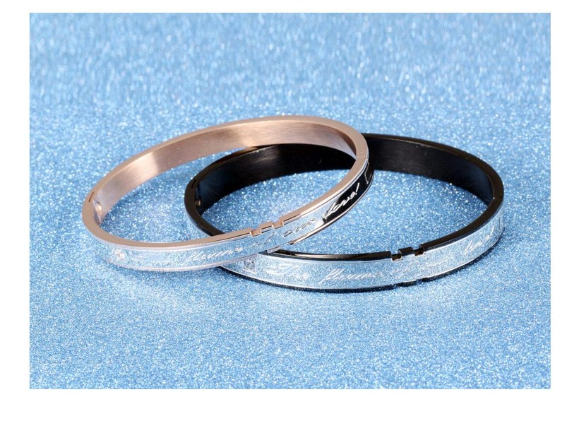 Wholesale 2018 New Fashion Stainless Steel Couples BraceletLovers TGSMB002 7