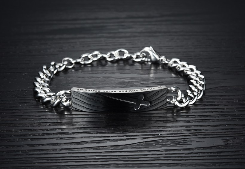 Wholesale 2018 New Fashion Stainless Steel Couples BraceletLovers TGSMB004 2