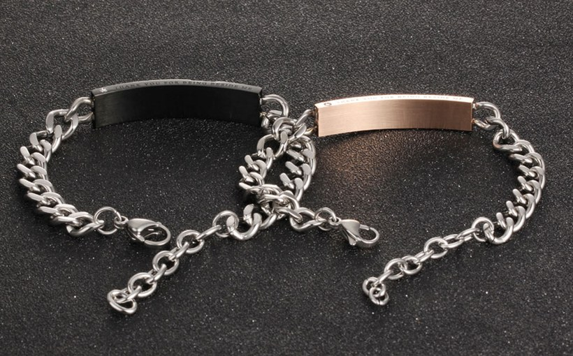 Wholesale 2018 New Fashion Stainless Steel Couples BraceletLovers TGSMB004 8
