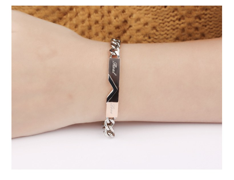 Wholesale 2018 New Fashion Stainless Steel Couples BraceletLovers TGSMB007 8