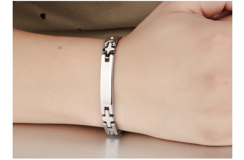 Wholesale 2018 New Fashion Stainless Steel Couples BraceletLovers TGSMB008 10